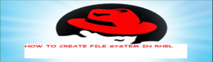 How to create file system in Linux