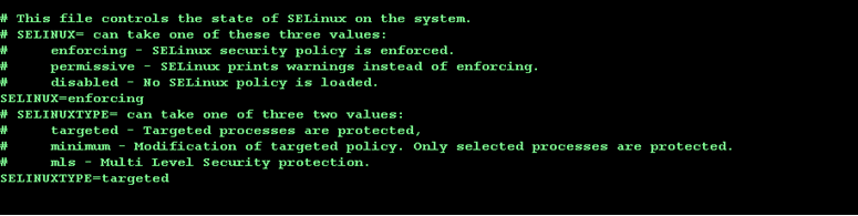SELinux current config