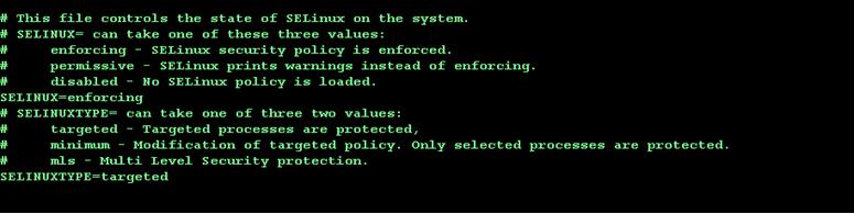 SELinux current config