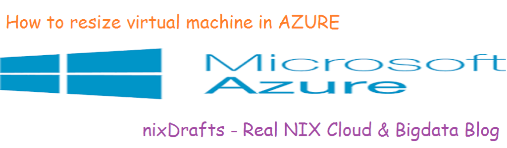 how to resize vm in azure procedure image