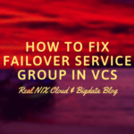 how to fix failover service group in vcs