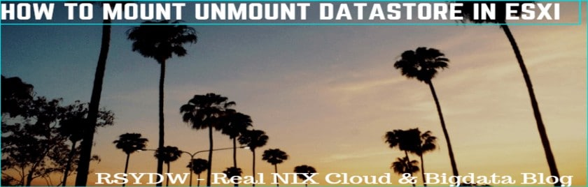 how to unmount and mount datastore in esxi host