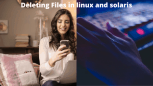 deleting bulk files in linux and solaris